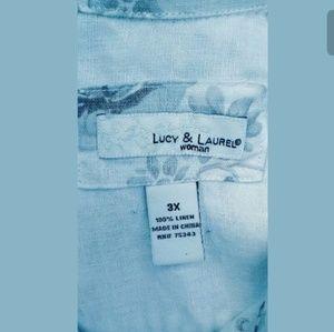 Lucy & Laurel Jackets & Coats - Lucy & Laurel Floral Linen Button Front Jacket